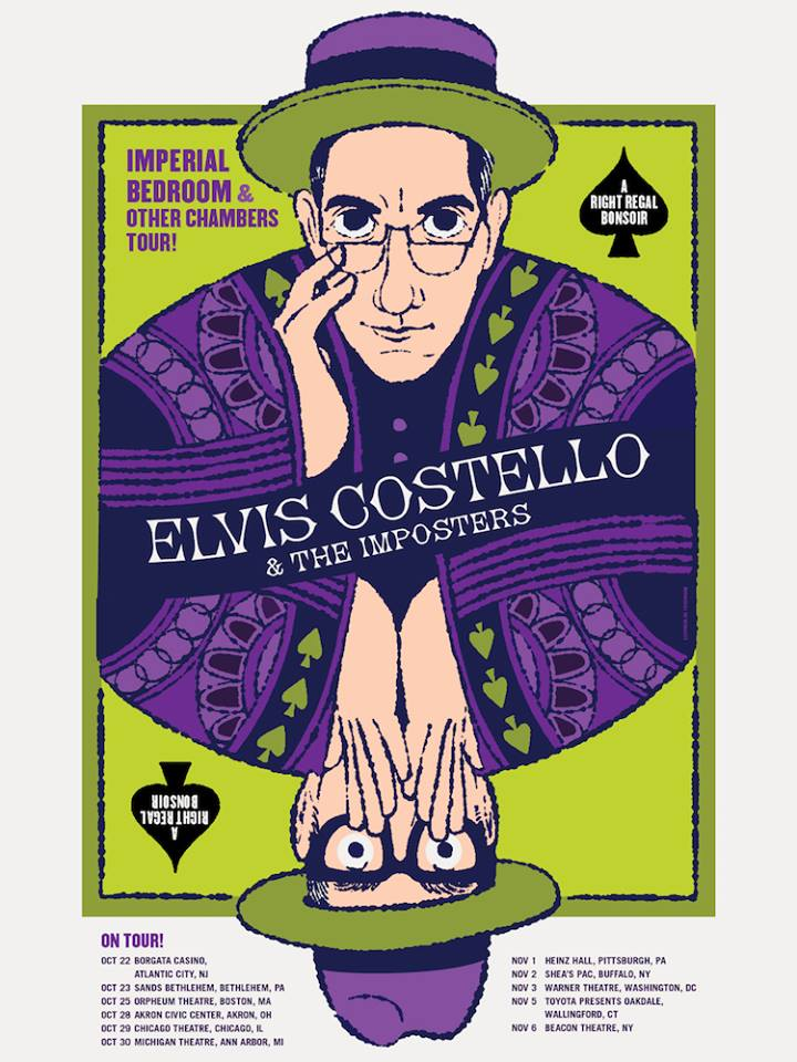 image for article Elvis Costello Adds 2016 Tour Dates with The Imposters: Ticket Presale Code Info