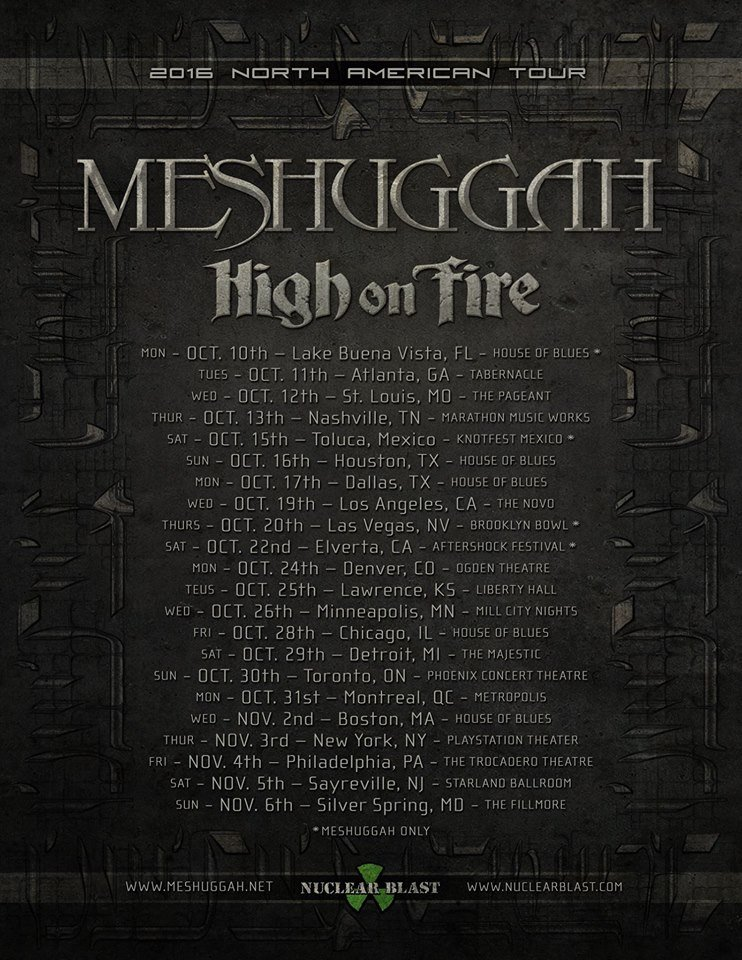 image for event Meshuggah and High On Fire