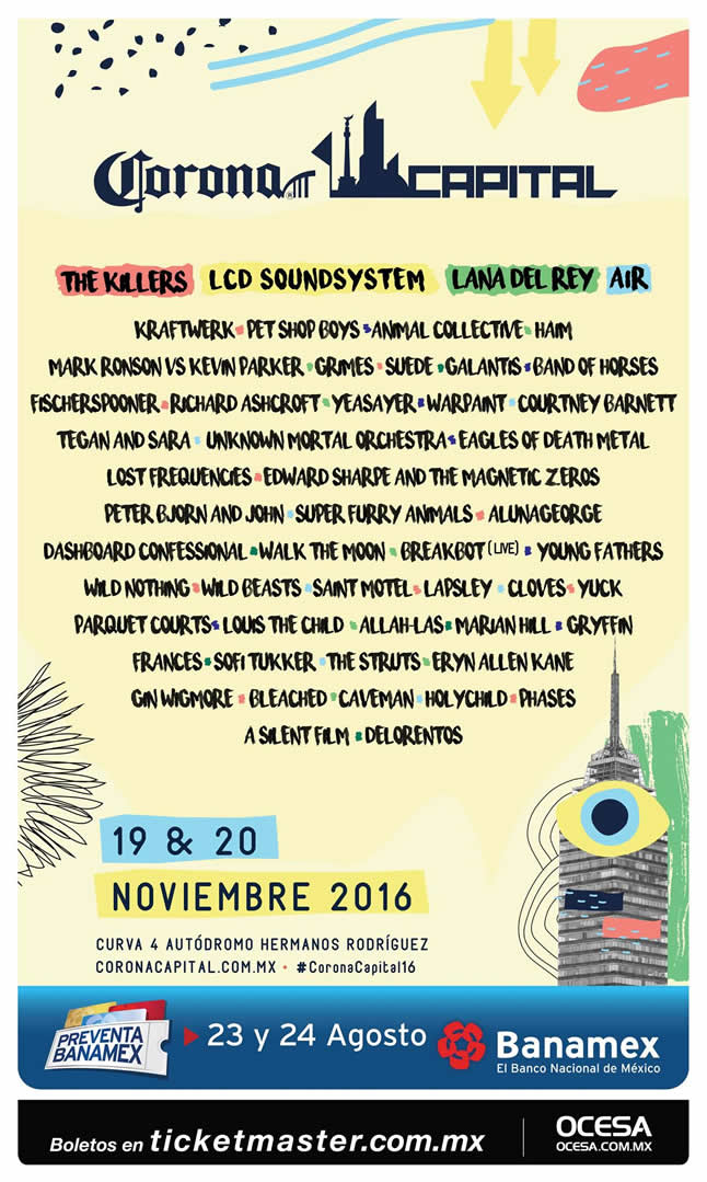 image for event Corona Capital Music Festival in Mexico City, Mexico on Nov 19-20, 2016