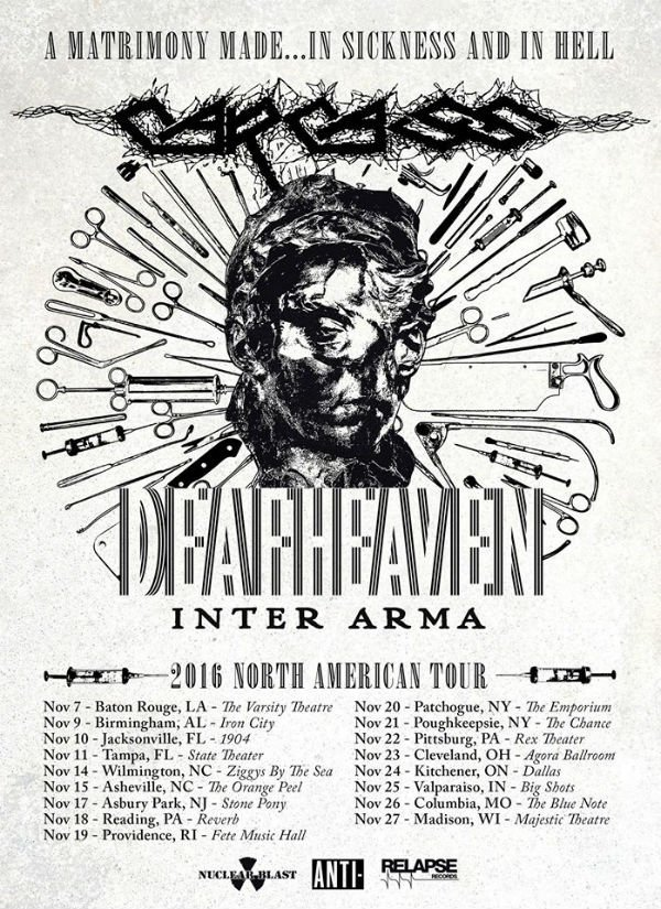 image for event Deafheaven, Carcass, and Inter Arma