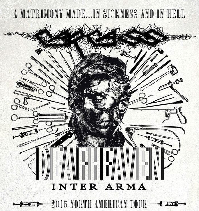 image for article Metal Bands Carcass, Deafheaven, and Inter Arma Plot 2016 Tour: Ticket Presale Code Info