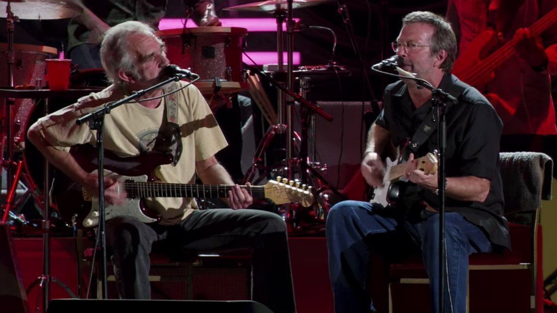 "image for article ""Anyway The Wind Blows"" - Eric Clapton, Derek Trucks, Doyle Bramhall II, and JJ Cale Live From San Diego [YouTube Video]"
