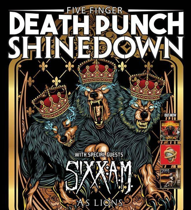 image for article Five Finger Death Punch Add 2016 Tour Dates With Shinedown, Sixx:A.M., and As Lions: Ticket Presale Code Info