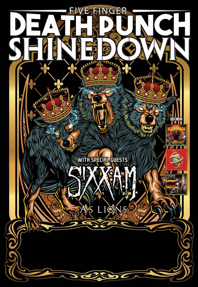 image for event Five Finger Death Punch, Shinedown, Sixx:A.M., and more