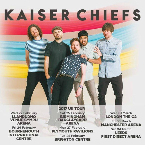 image for article Kaiser Chiefs Add 2017 Tour Dates for United Kingdom: Ticket Info