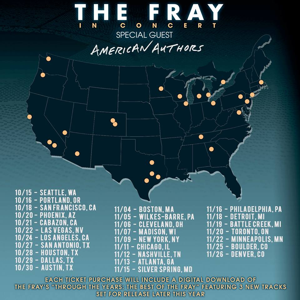 image for article The Fray Set 2016 Tour Dates with American Authors: Ticket Presale Code Info