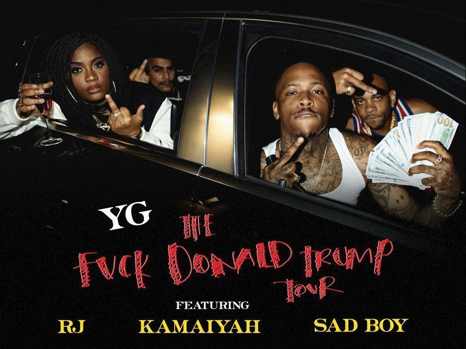 "image for article YG Sets 2016 ""Fuck Donald Trump"" Tour Dates: Ticket Presale Code Info"