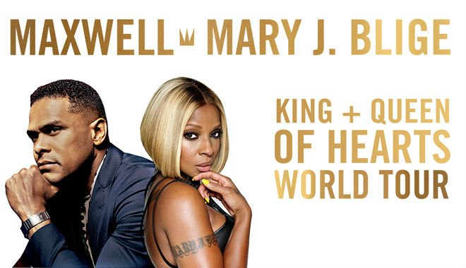 image for article Maxwell and Mary J. Blige Set 2016 Tour Dates: Ticket Presale Code Info for the 'King + Queen of Hearts' Tour