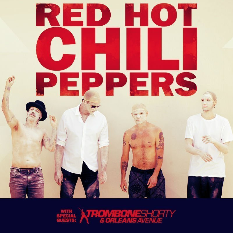 image for event Red Hot Chili Peppers, Trombone Shorty & Orleans Avenue, and Jack Irons
