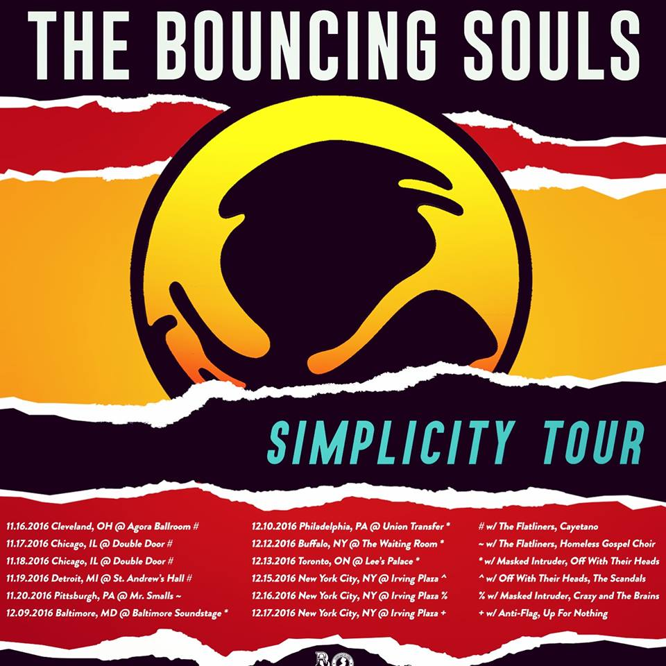 image for article The Bouncing Souls Add 2016 'Simplicity' Tour Dates: Ticket Presale Code Info
