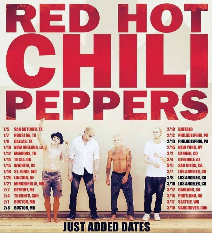 image for article Red Hot Chili Peppers Add New Dates To Their 2017 North American Tour
