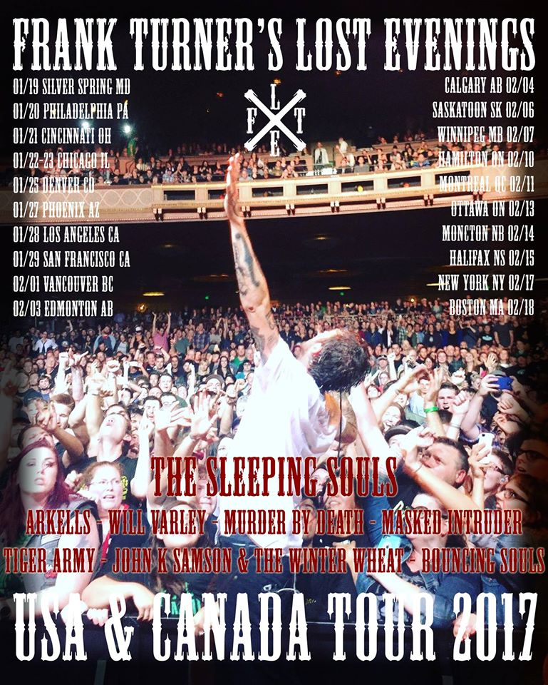 image for article Frank Turner and Arkells Plan 2017 Tour Dates: Ticket Presale Code Info