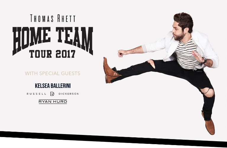 image for event Thomas Rhett, Kelsea Ballerini, Russell Dickerson, and Ryan Hurd
