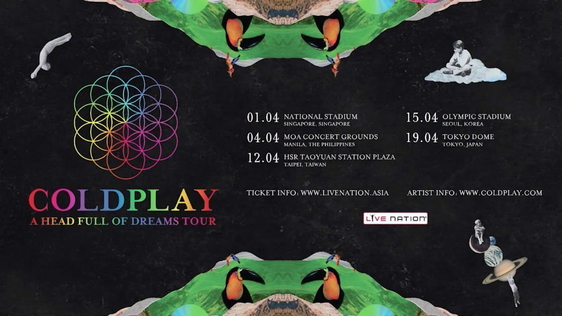 Coldplay At Singapore National Stadium Singapore On 1 Apr