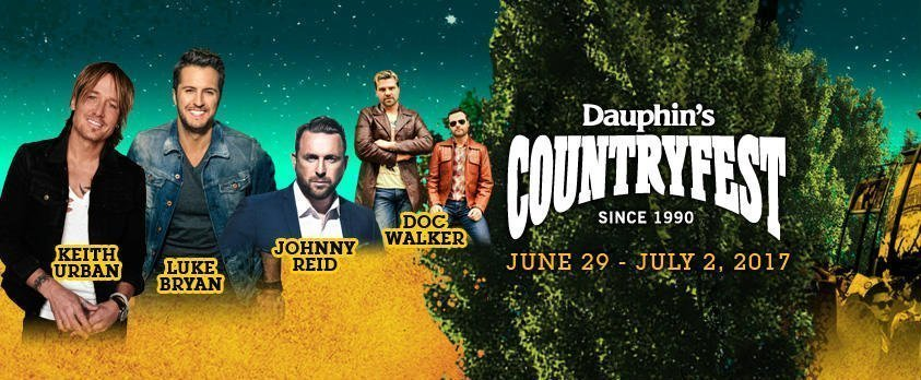 image for event Dauphin's Countryfest in Dauphin, MB on Jul 2, 2017