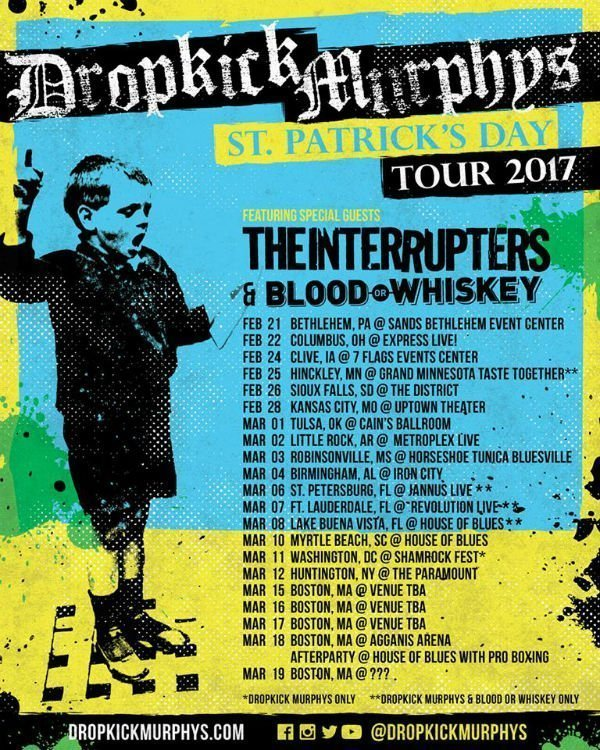 image for event Dropkick Murphys, Blood or Whiskey, and Conmen