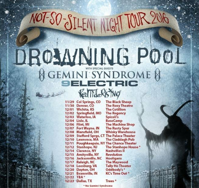 image for article Drowning Pool Plans 'Not-So-Silent Night' 2016 Tour Dates: Ticket Info