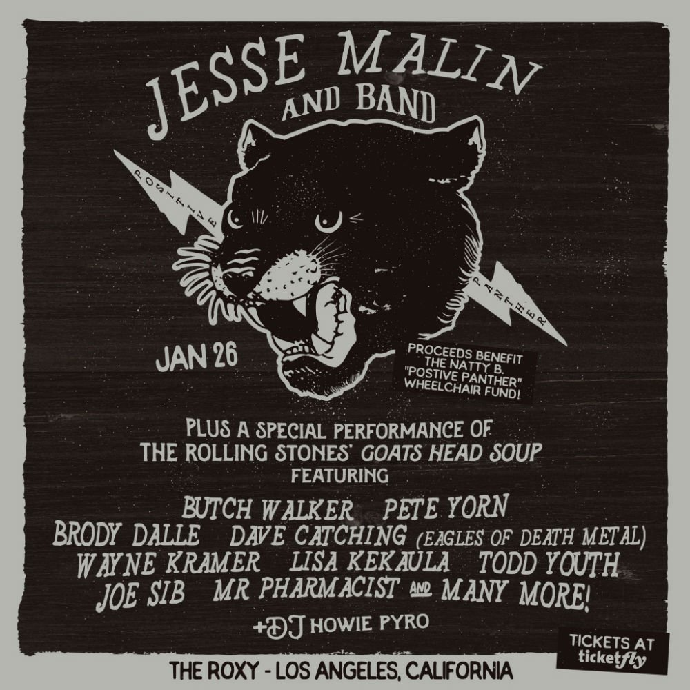 image for event Jesse Malin and Band featuring Special Guests Butch Walker, Pete Yorn, Wayne Kramer & More