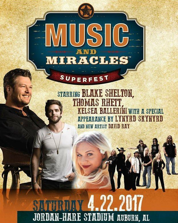 image for event Music and Miracles Superfest: Blake Shelton, Lynyrd Skynyrd, and more