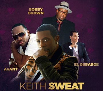 image for event Valentine's Day Music Festival: Keith Sweat, Bobby Brown, El Debarge, and Avant