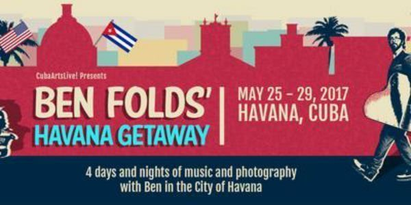 image for event Ben Folds Havana Getaway in Havana, Cuba on May 25-29, 2017