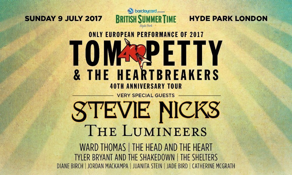 image for event Tom Petty & The Heartbreakers, Stevie Nicks, The Lumineers, and More