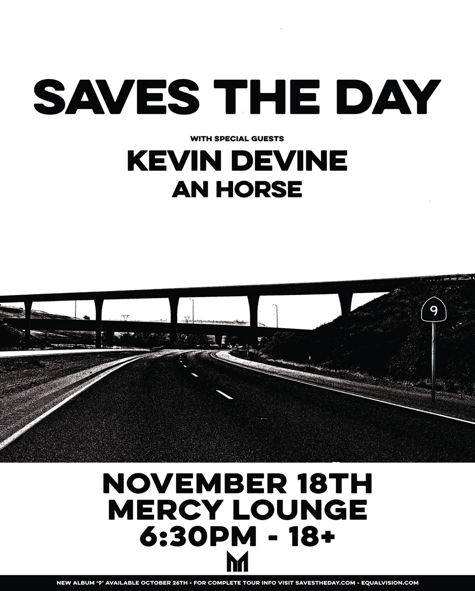 image for event Saves the Day, An Horse, and Kevin Devine
