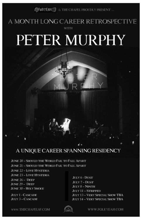 image for event Peter Murphy and Jill Tracy