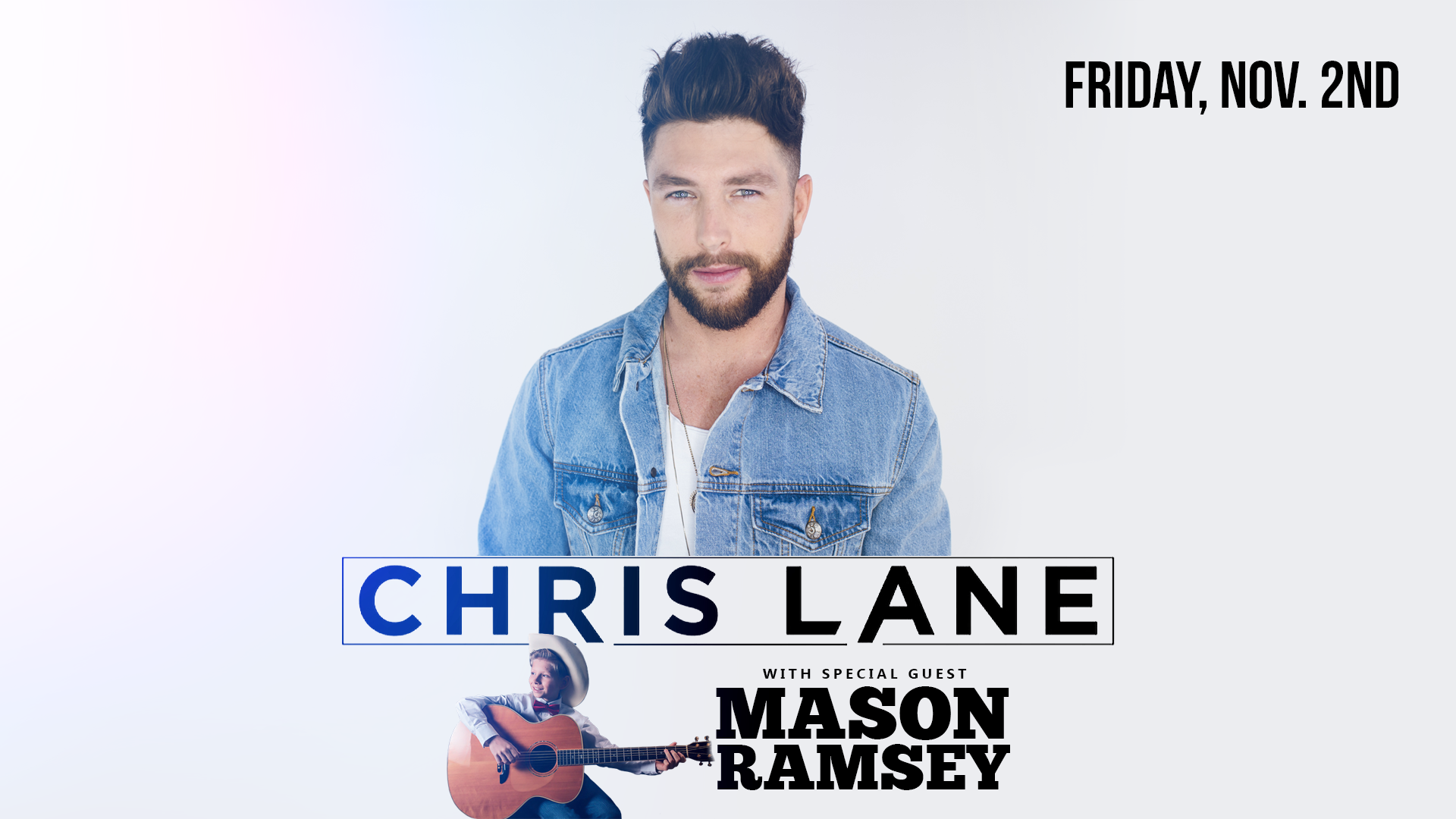 image for event Chris Lane, New Country 107.9 WYYD, 92.9 Kickin Country, 105.5 KD Country Radio, and Mason Ramsey