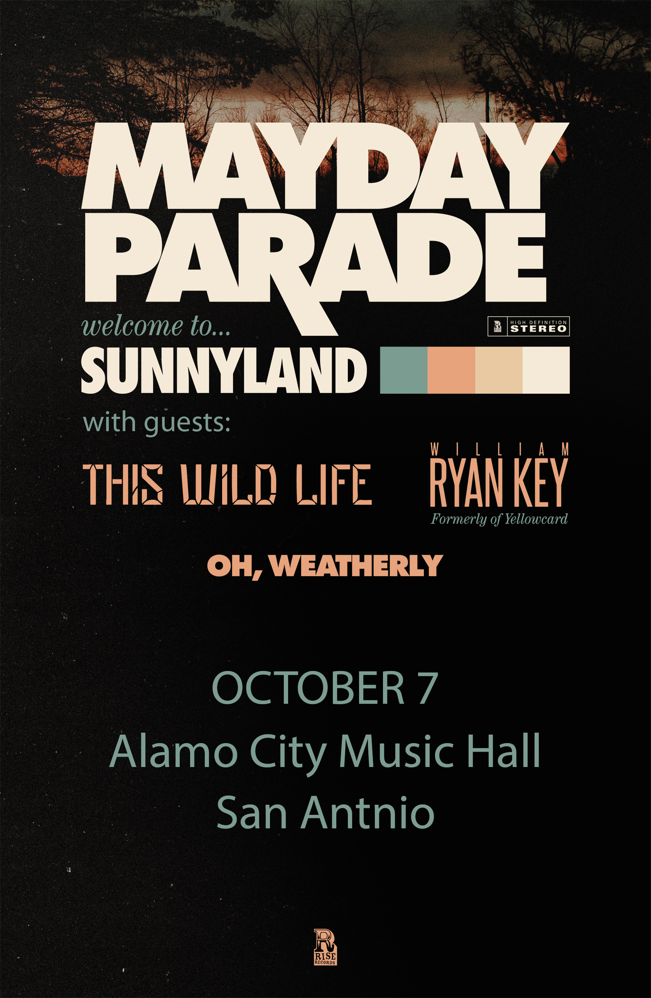 image for event Mayday Parade, This Wild Life, William Ryan Key, and Oh, Weatherly