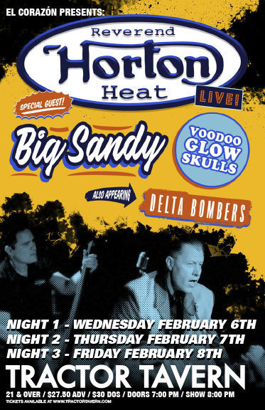 image for event Reverend Horton Heat, Voodoo Glow Skulls, Big Sandy, and The Delta Bombers