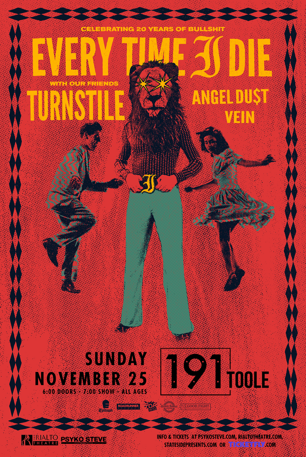 image for event Every Time I Die, Turnstile, Angel Du$t, and Vein