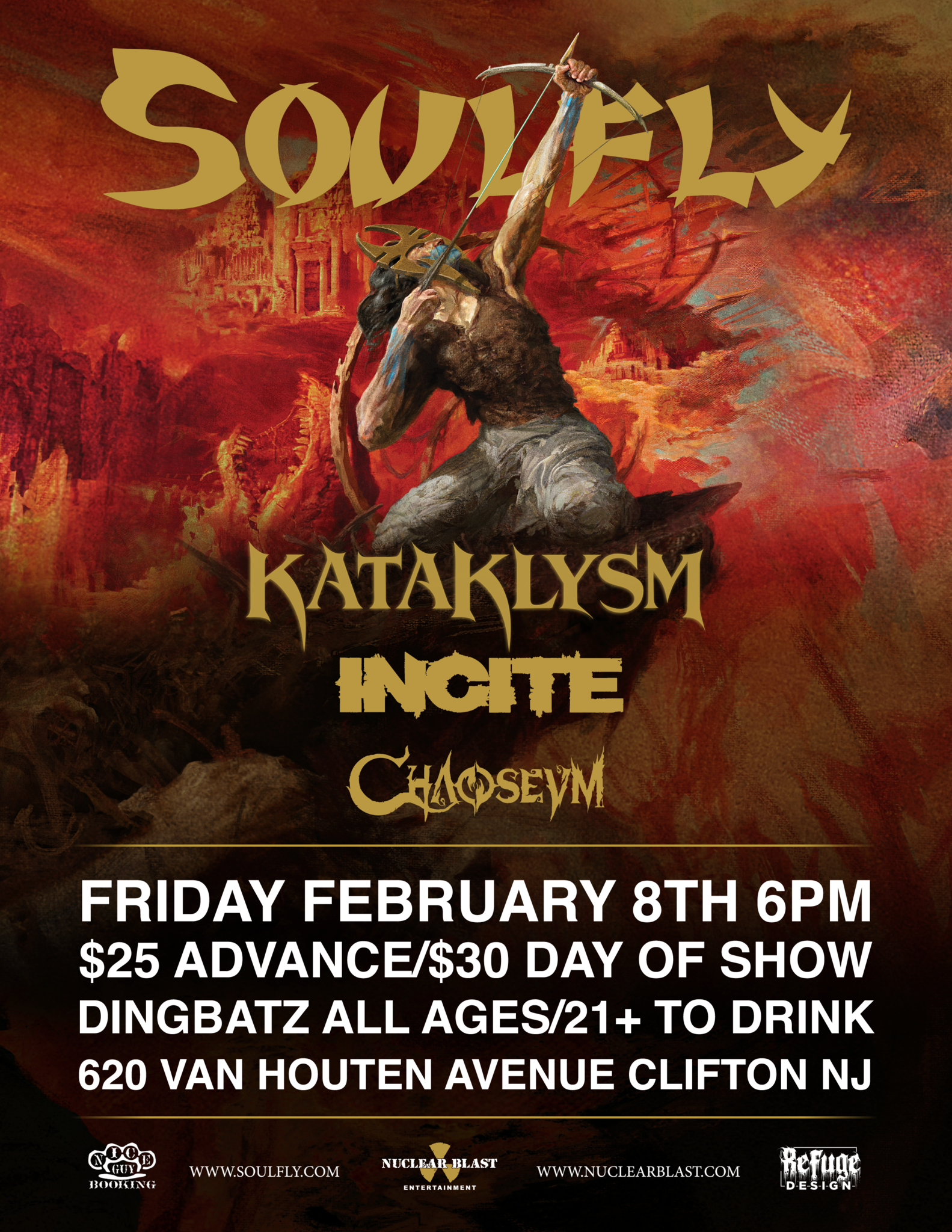 image for event Soulfly, Incite, Chaoseum, The Silencer, and KATAKLYSM