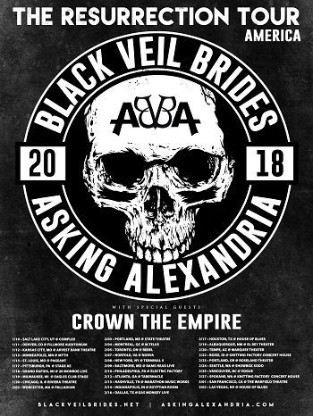 image for event Black Veil Brides & Asking Alexandria