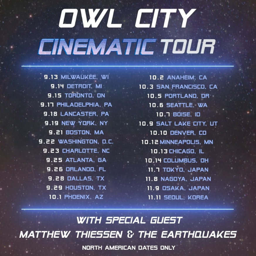 image for event Owl City