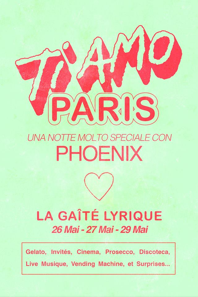 image for event TI AMO PARIS, Phoenix, Halo Maud and Coma Cose