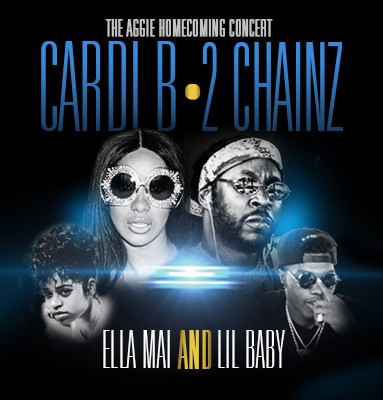 image for event 2018 Aggie Homecoming Concert - Cardi B, 2 Chainz, Ella Mai, Lil Baby