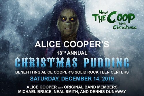 Alice Coopers Christmas Pudding 2020 Alice Cooper's Christmas Pudding at Celebrity Theatre on 14 Dec
