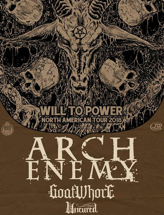 image for event Arch Enemy, Goatwhore, and Uncured