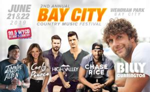 Bay City Country Music Festival At Wenonah Park On 21 Jun