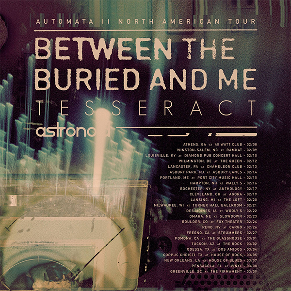 image for event Between The Buried And Me, Tesseract, and Astronoid