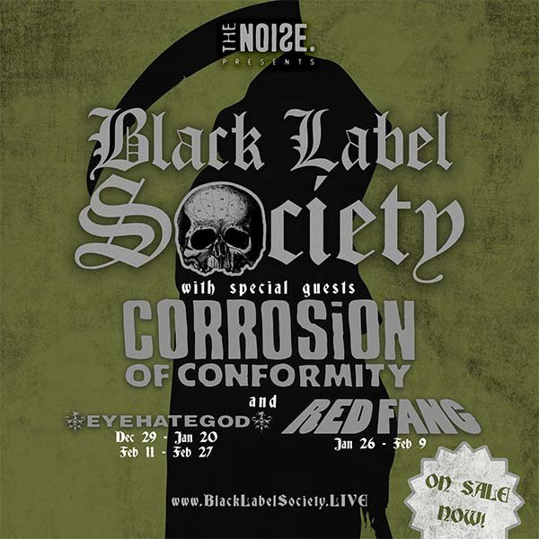 image for event Black Label Society, Corrosion of Conformity, and Red Fang