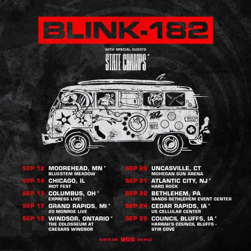 image for event Blink-182, State Champs, and Seaway