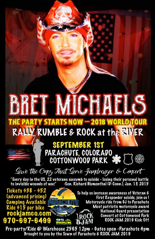 image for event Rally, Rumble, & Rock at the River and Bret Michaels