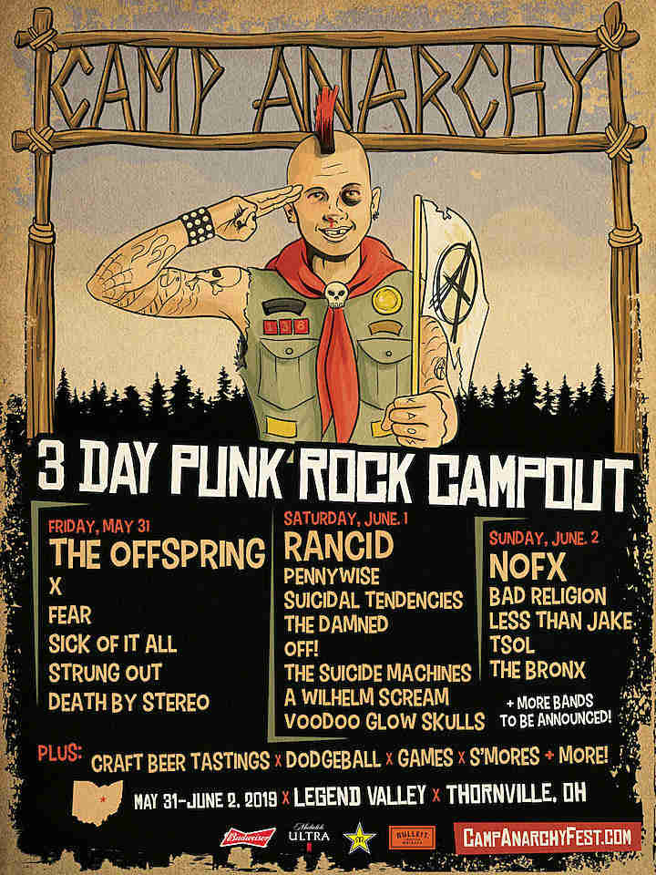 image for event OFF!, Rancid, The Bronx, Bad Religion, and The Offspring