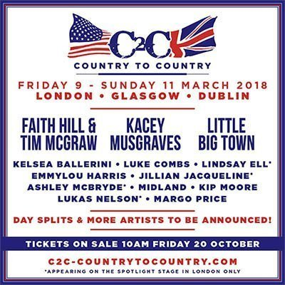 image for event Country to Country 2018