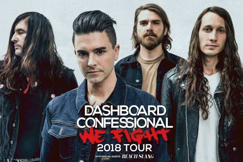 image for article Dashboard Confessional Share 2018 'We Fight' Tour Dates With Beach Slang: Ticket Presale Code & On-Sale Info