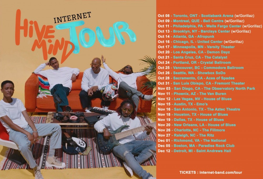 image for article The Internet Plot 2018 Tour Dates: Presale Codes and On-Sale Info