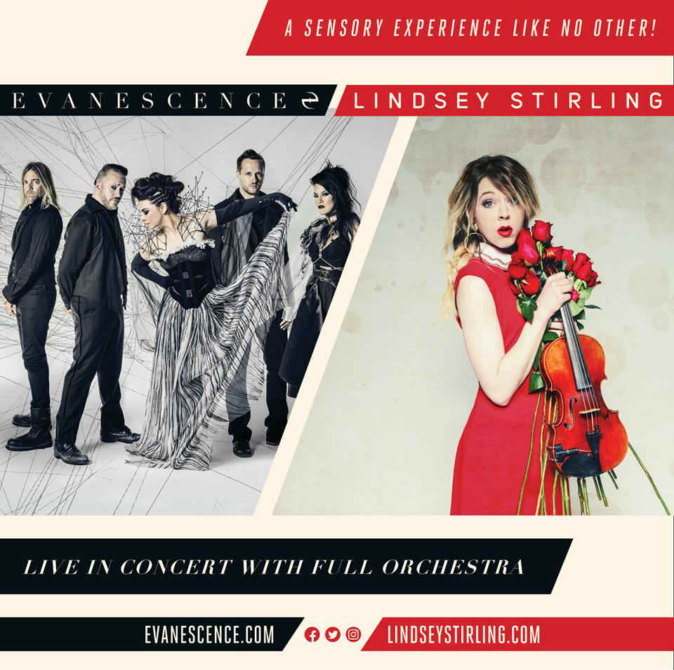 Evanescence and Lindsey Stirling bring tour to Mohegan Sun