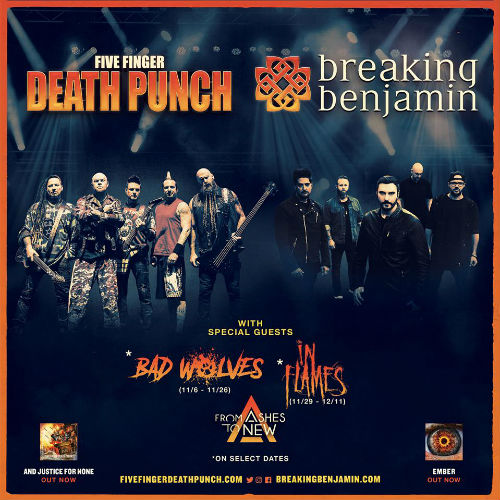 image for article Five Finger Death Punch & Breaking Benjamin Extend 2018 Co-Headlining Tour Dates: Ticket Presale Code & On-Sale Info